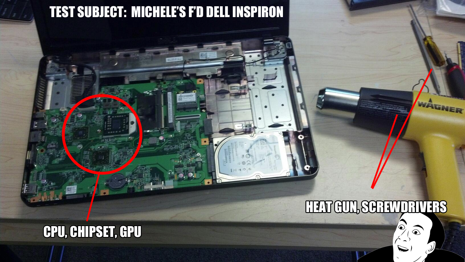 Fixing a faulty laptop Motherboard or CPU - Logistics