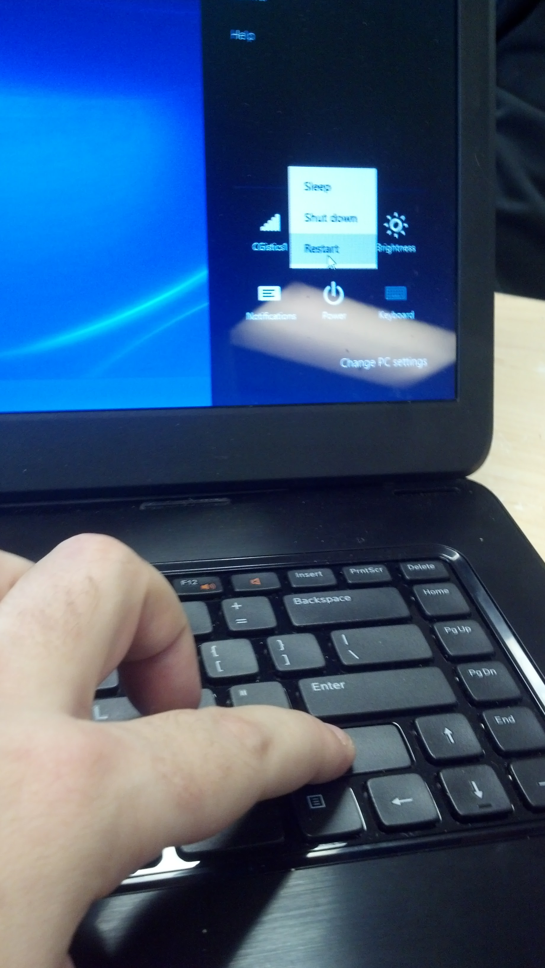 how to hard reset dell laptop windows 8
